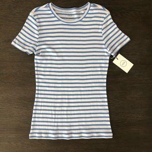 🧩1901 Baby Blue & White Stripe T-Shirt